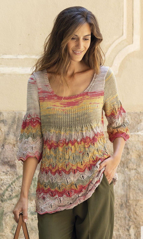 pattern-knit-crochet-woman-sweater-spring-summer-katia-6122-17-g