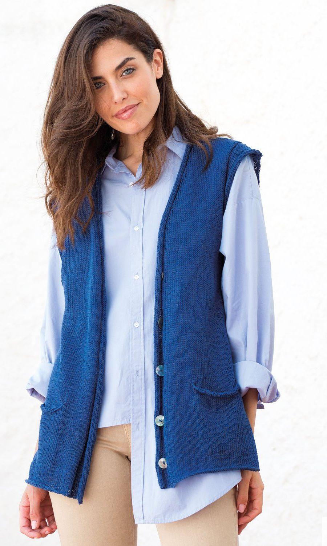 pattern-knit-crochet-woman-vest-spring-summer-katia-6073-39-g